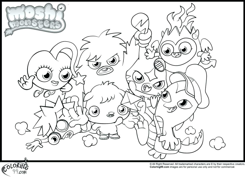 1024x740 Moshi Monsters Coloring Pages