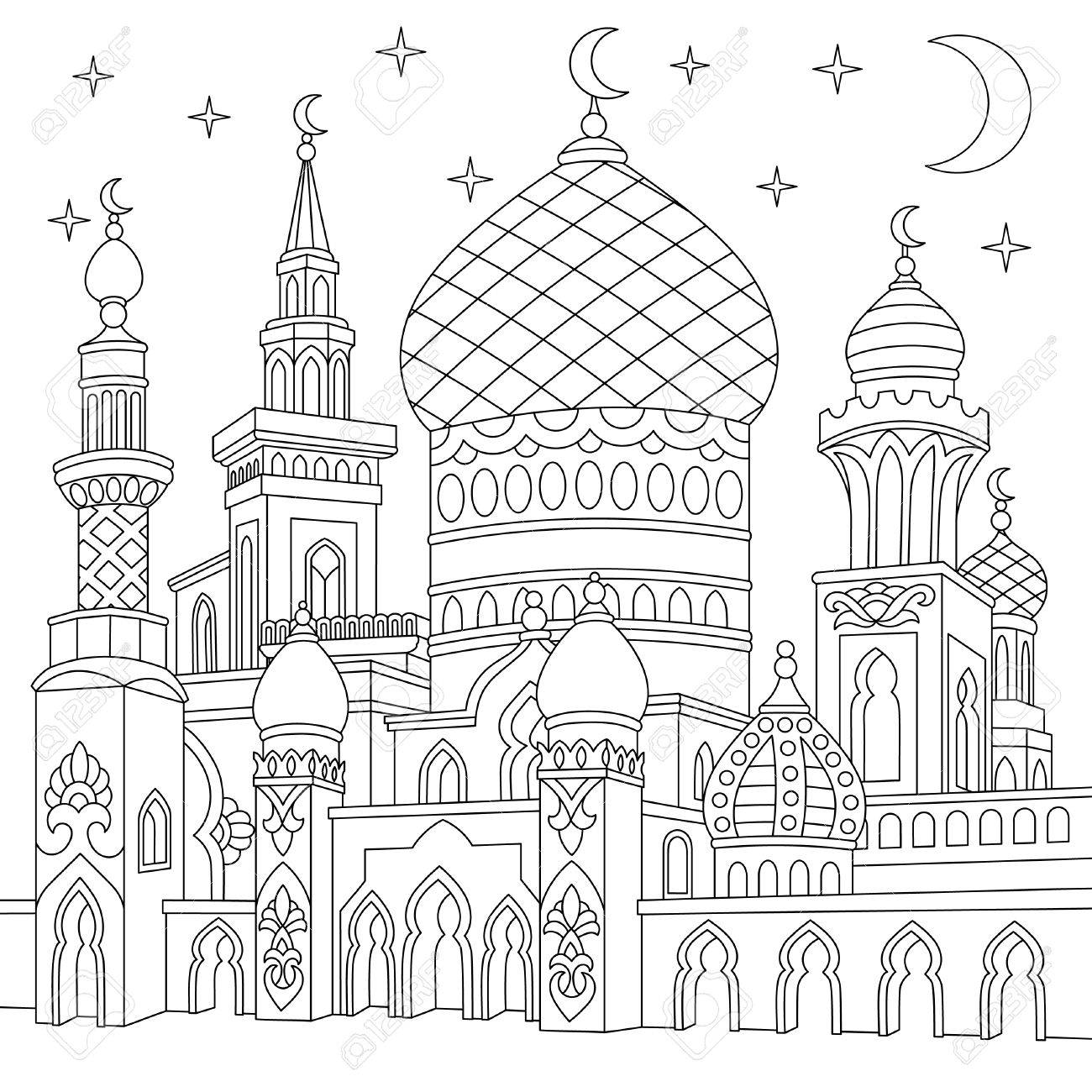 The best free Mosque drawing images Download from 133
