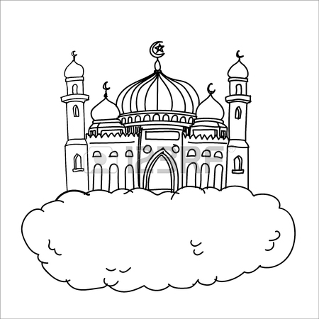 Mosque Drawing For Kids