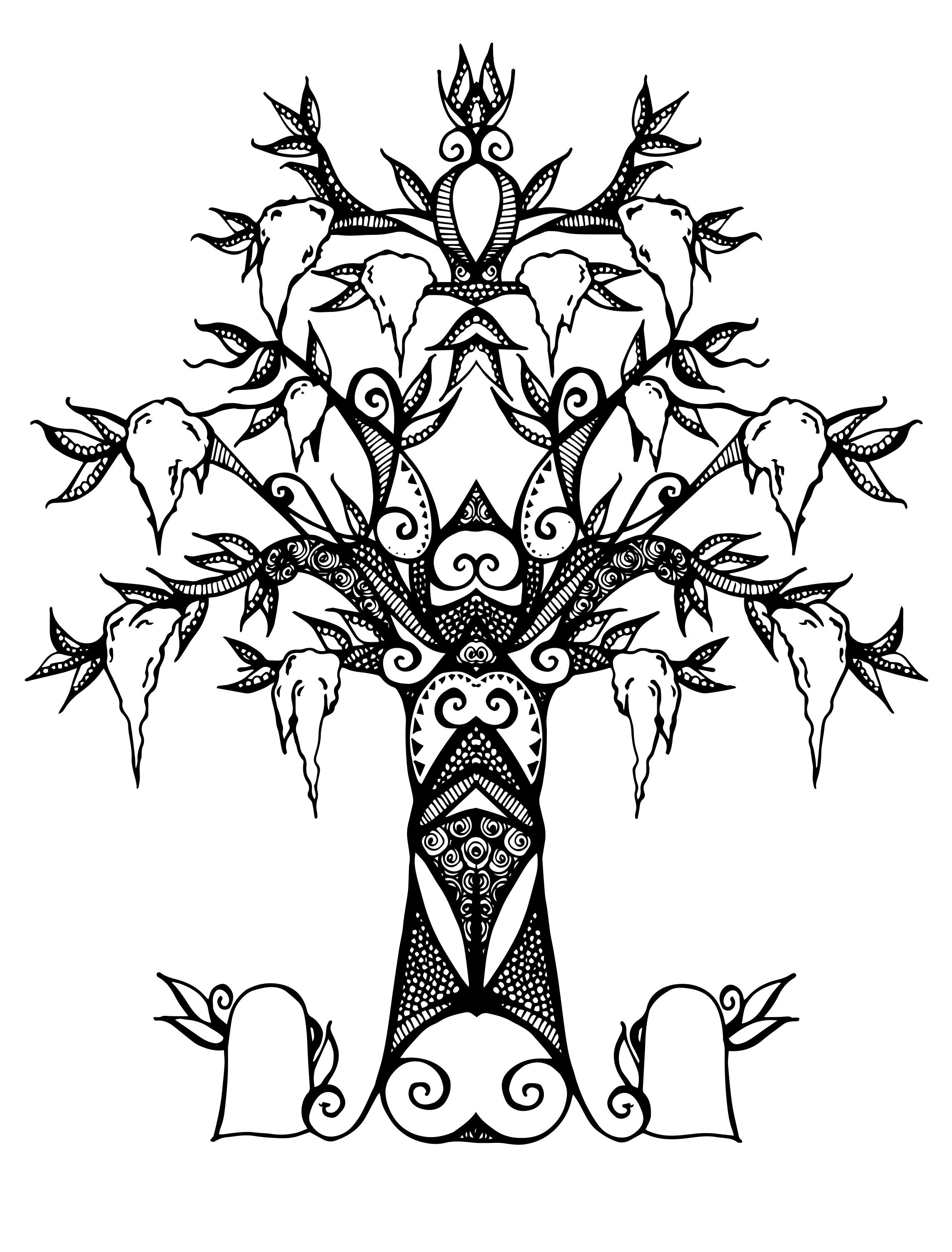 2286x3006 Another Vector Spanish Moss Tree Spot Illustration Olivia Linn