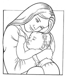 236x269 Mother And Baby Clipart Baby Sketch