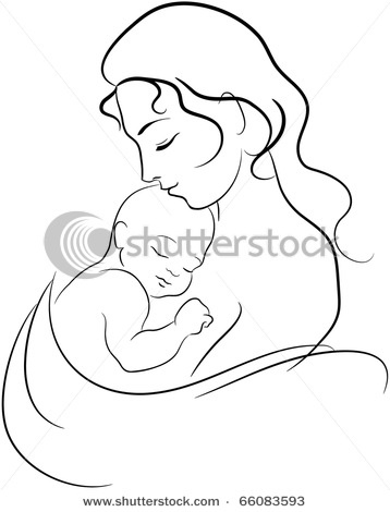 358x470 Mother And Child Drawing