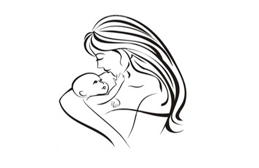 900x583 how to draw a mother holding a baby