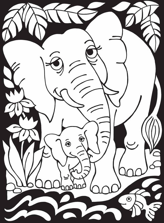 Mother And Baby Elephant Drawing At Getdrawings Com Free For