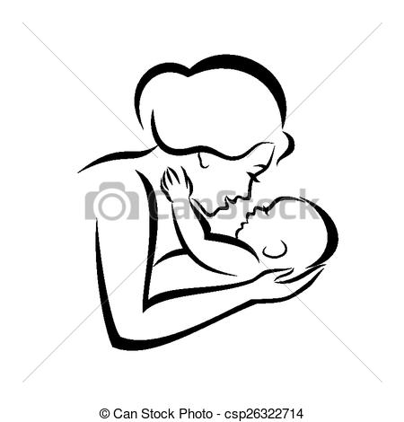 450x470 Mother And Baby Clipart Baby Icon