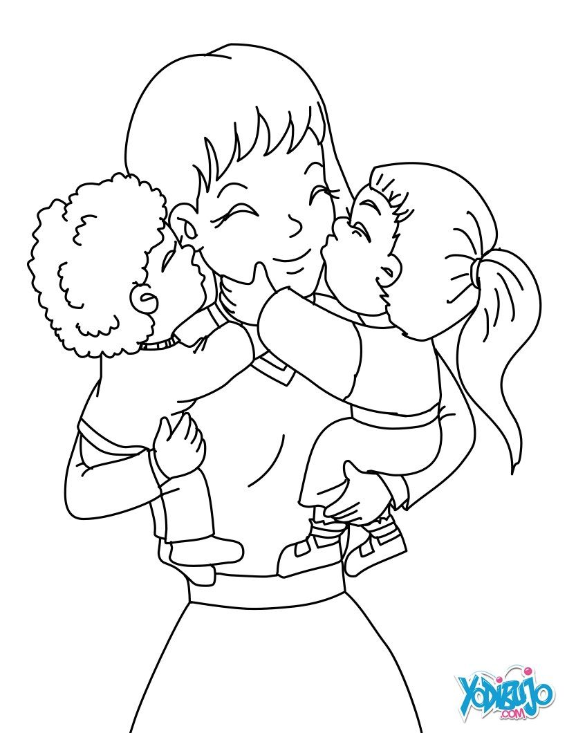 Mother And Child Drawing at GetDrawings.com | Free for personal use ...