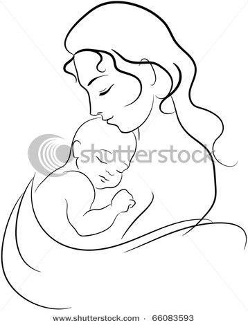 358x470 Mother Child Line Drawings Pins ) Drawings, Child