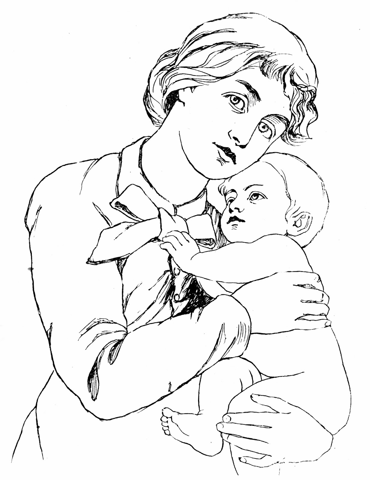 1233x1600 Indian Mother And Baby Clipart