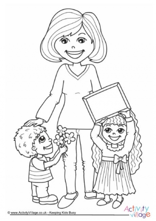 320x452 Mother's Day Colouring Pages