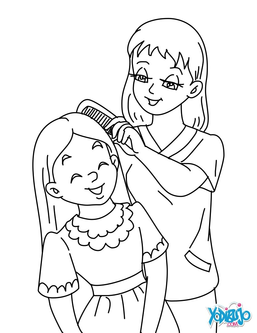 820x1060 Mother And Daughter Coloring Pages