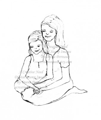 339x400 Sweet Mother Daughter Image For Mother's Day A Creative Need