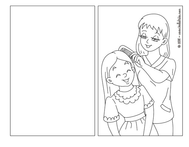 620x482 Mom And Daughter Coloring Pages