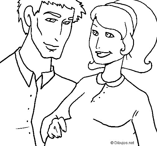 505x470 Father And Mother Coloring Page