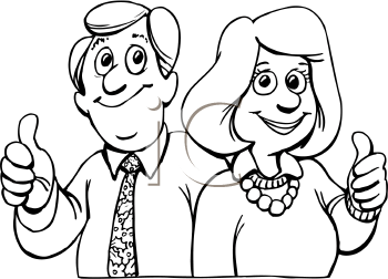 350x252 Mom And Dad Clipart Black And White
