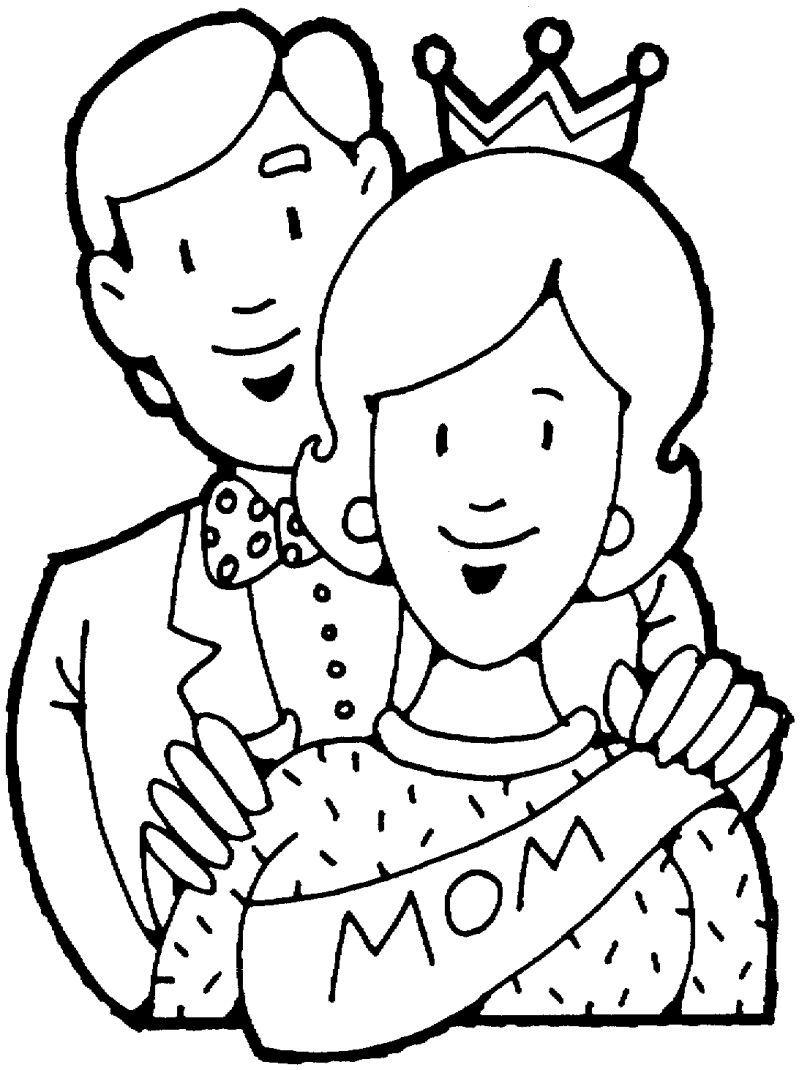 800x1070 Mom And Dad Coloring Pages For Kids