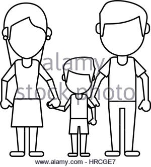 300x332 Father Mother And Son Hing Hands Pictogram Stock Vector Art