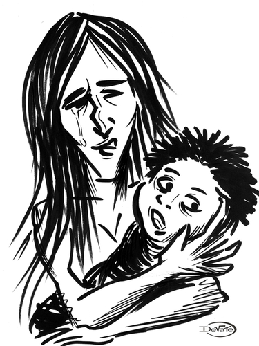 375x500 Mother And Son By Devate Politics Cartoon Toonpool