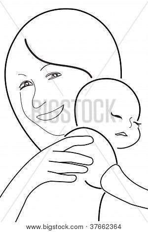 300x470 Mother Child, Vector Sketch Vector Amp Photo Bigstock