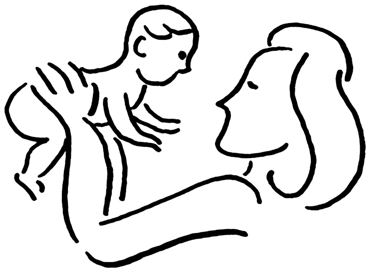 750x550 Mother Child Clipart