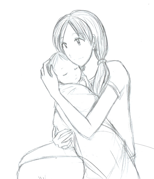 500x580 Mother And Child By Danabobana
