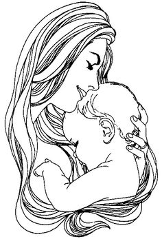 236x347 Photos Mother Holding Baby Drawing,