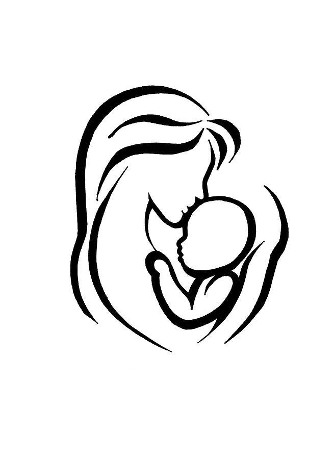 653x900 A Mother's Hug Digital Art By Shaz Aslam