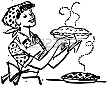 Mother Cooking Drawing