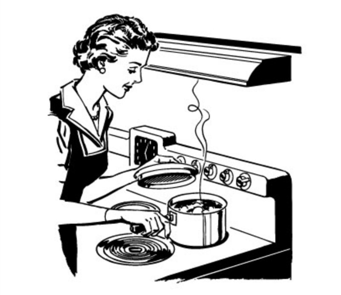 700x607 Cooking Clipart Black And White