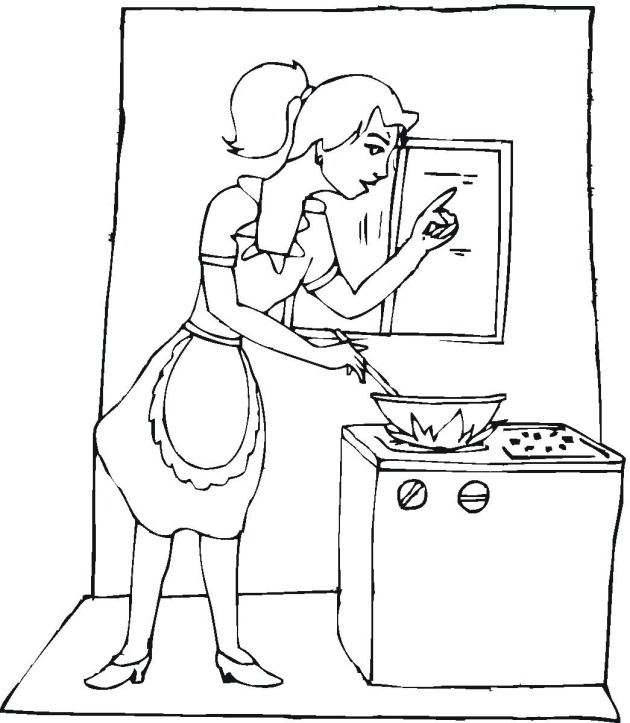 630x723 Free Cooking Coloring Pages