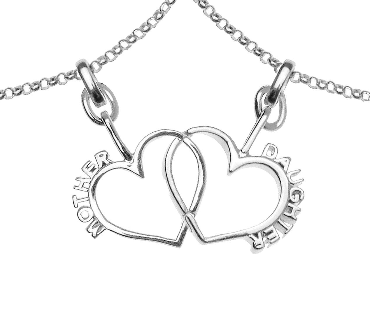 1269x1125 Mother Daughter Connecting Hearts Bracelet