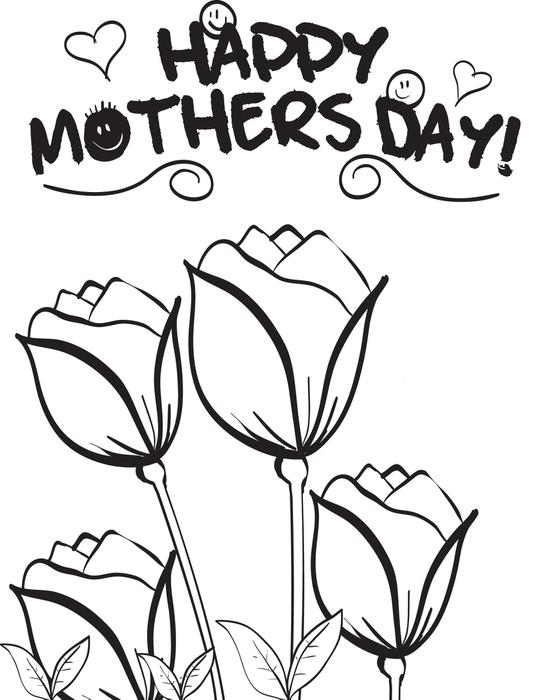 551x700 Free Printable Mother39s Day Flowers Coloring Page For Kids