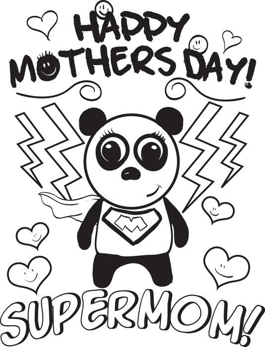 534x700 Free Printable Supermom Mother39s Day Coloring Page For Kids