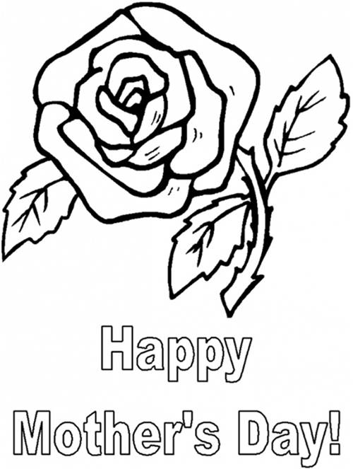 500x663 Happy Mothers Day Coloring Pages, Happy Mothers Day Drawing, Happy
