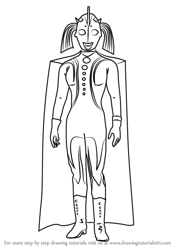 567x800 Learn How To Draw Mother Of Ultra (Ultraman) Step By Step