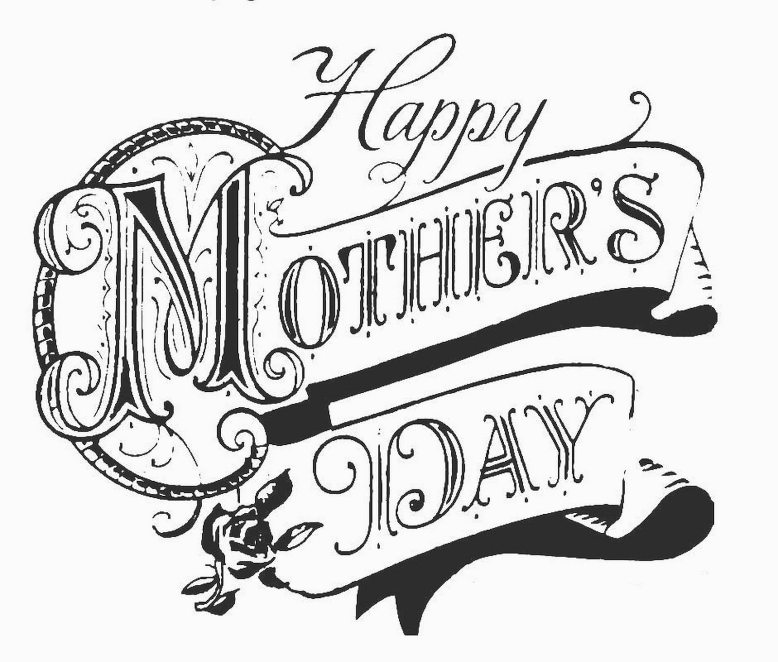 1600x1362 free mother day clip art black and white day clipart drawing 6