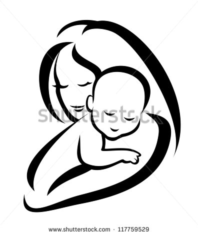 396x470 mother and child vector