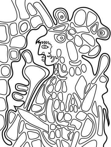 363x480 The Great Earth Mother By Norval Morrisseau Coloring Page Free