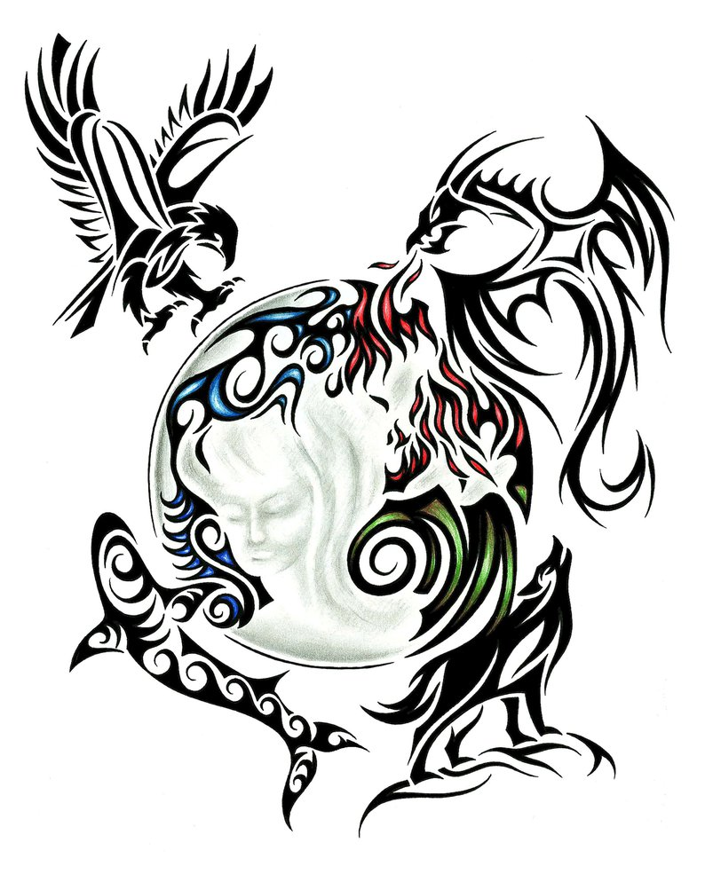 803x994 Tribal Back Tattoo Design By Jsharts On Drawings