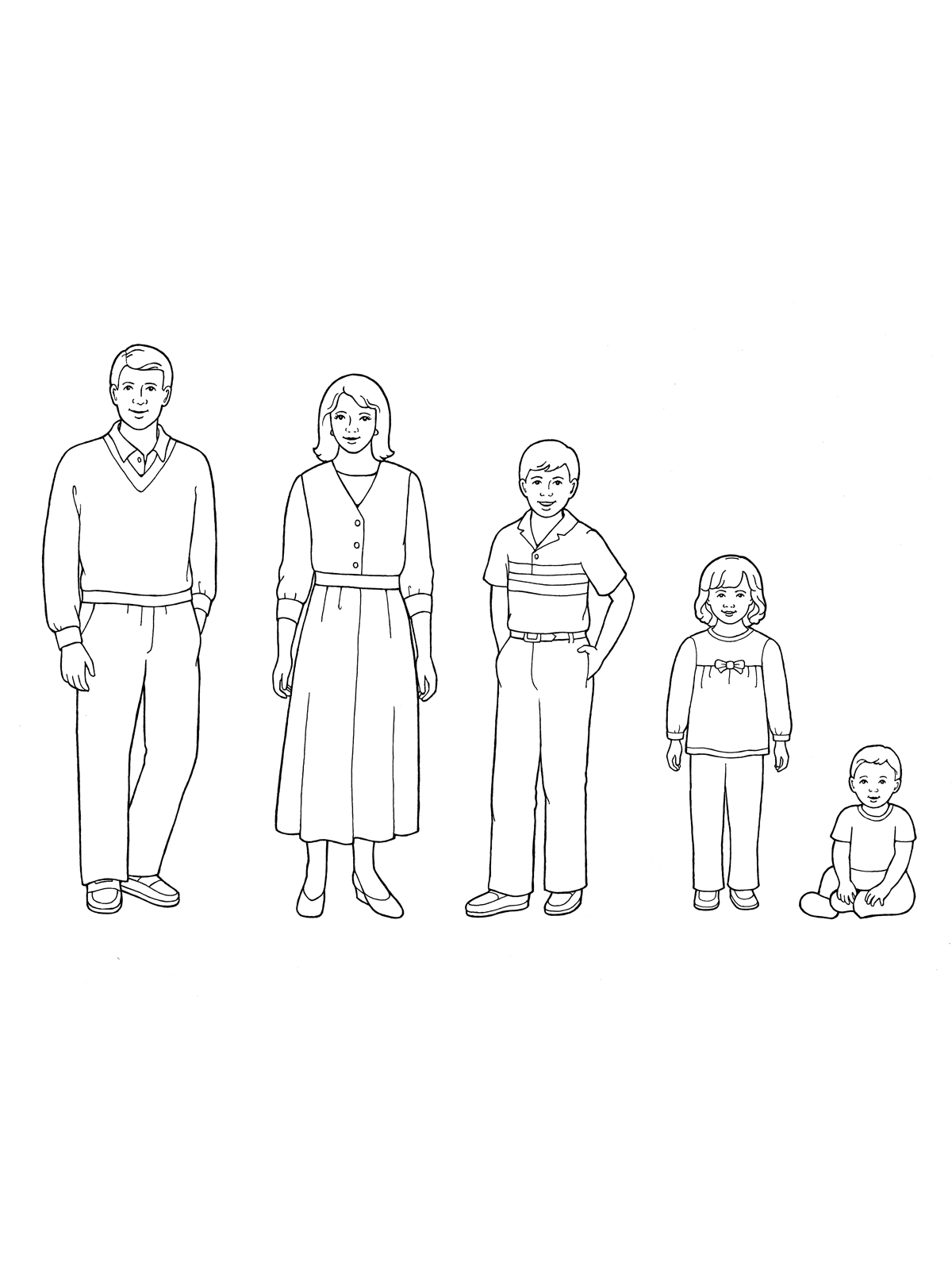 1200x1600 Family Of Five Standing With A Baby Boy Sitting