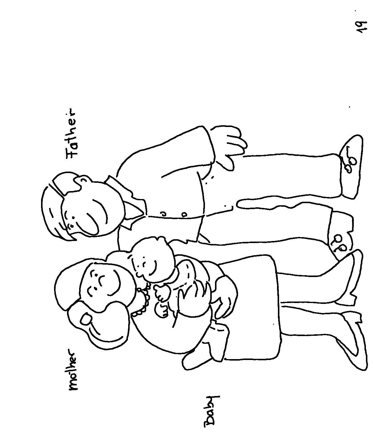 1263x1517 Mom Dad And Baby Coloring Pages