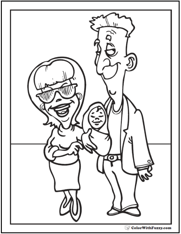 590x762 Mom Dad Coloring Pages Mom And Dad Coloring Sheets