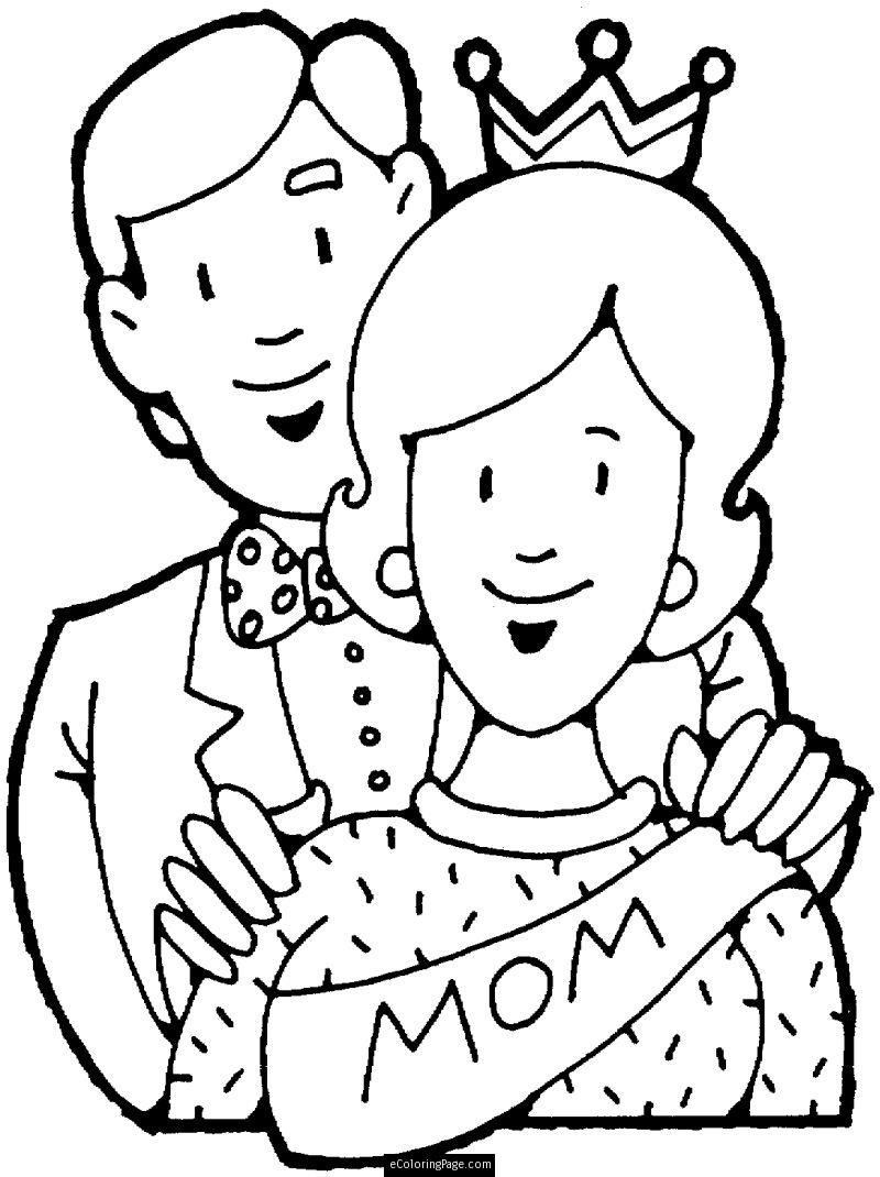 800x1070 Mother And Father Coloring Pages Mom Dad