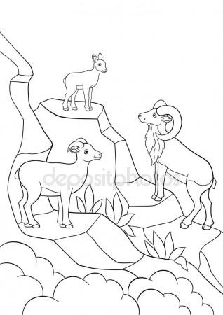 318x450 Coloring Pages. Mother, Father And Baby Urial Smile. Stock