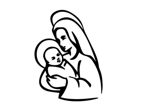 570x428 Immaculate Conception Coloring Pages