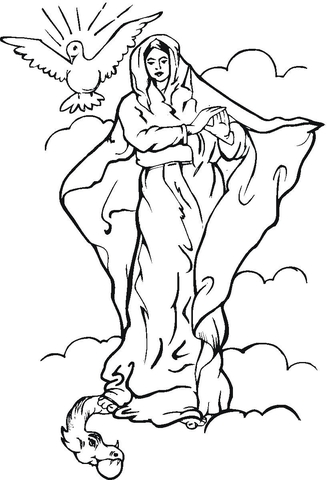 327x480 Immaculate Conception Coloring Page Free Printable Coloring Pages