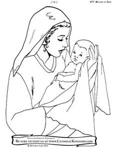236x295 Mother Mary Coloring Page Free Download