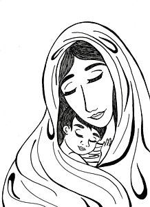 218x300 Mother Mary Drawings