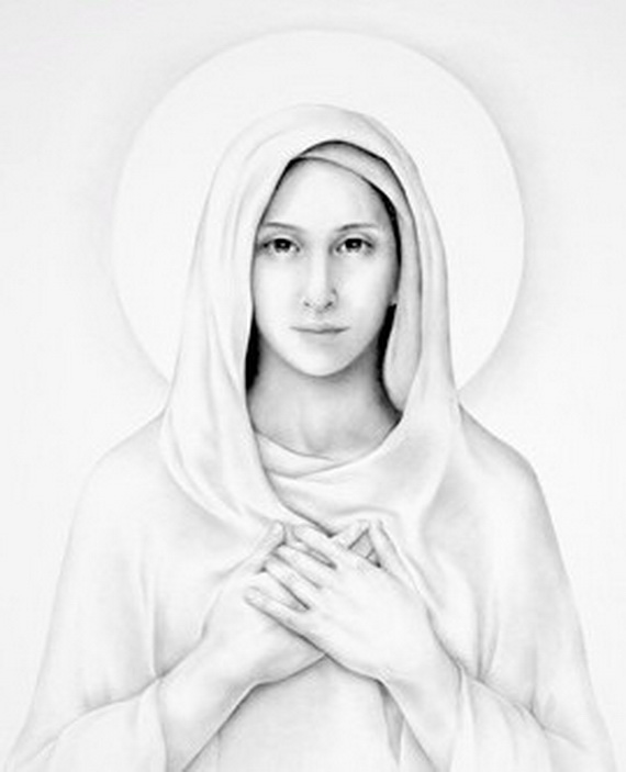 Mother Mary Drawing at GetDrawings.com | Free for personal use ...