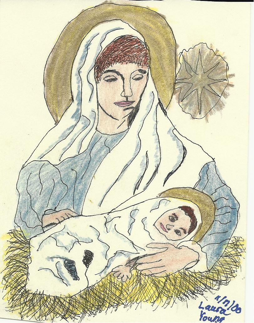 811x1031 Virgin Mary And Baby Jesus By Sudsysoap2006