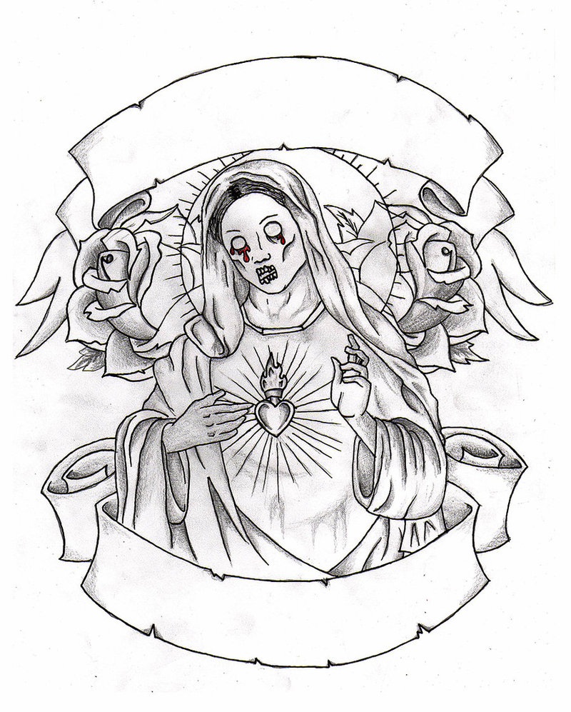 800x997 Virgin Mary By Teenagequeer On Mary Tattoo Outlines